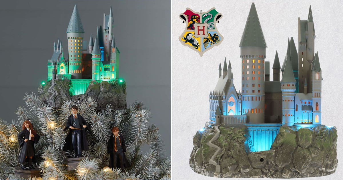 Aw This Harry Potter Hogwarts Christmas Tree Topper Plays Hedwig S