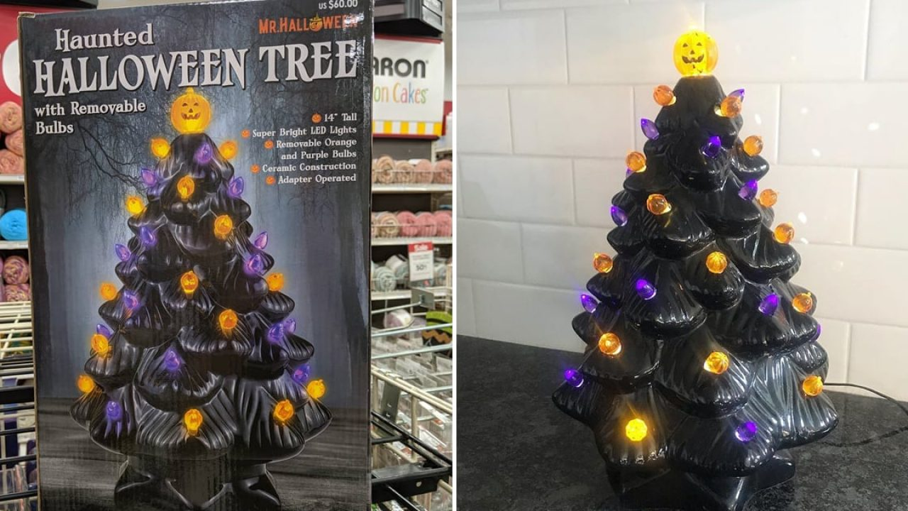 Michaels Put A Halloween Twist On Ceramic Christmas Trees And They Re Selling Scary Fast Binge Post