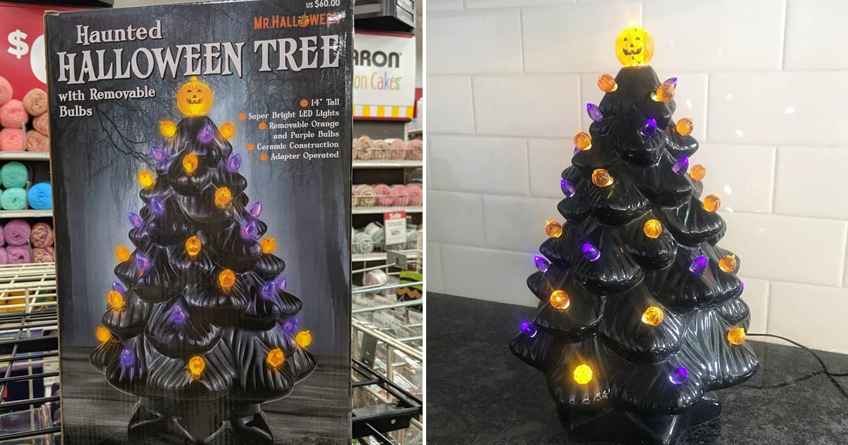 Michaels Put A Halloween Twist On Ceramic Christmas Trees And They