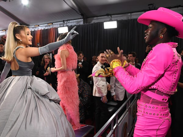 Ariana Grande's Cinderella dress is everything the Grammys red carpet deserves