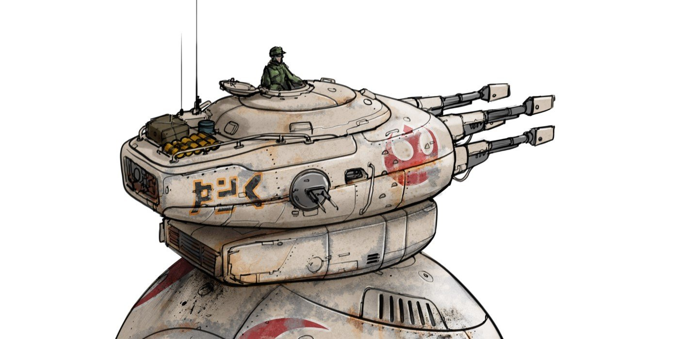 Bb 8 Becomes A Giant Tank In Rise Of Skywalker Concept Art Binge Post