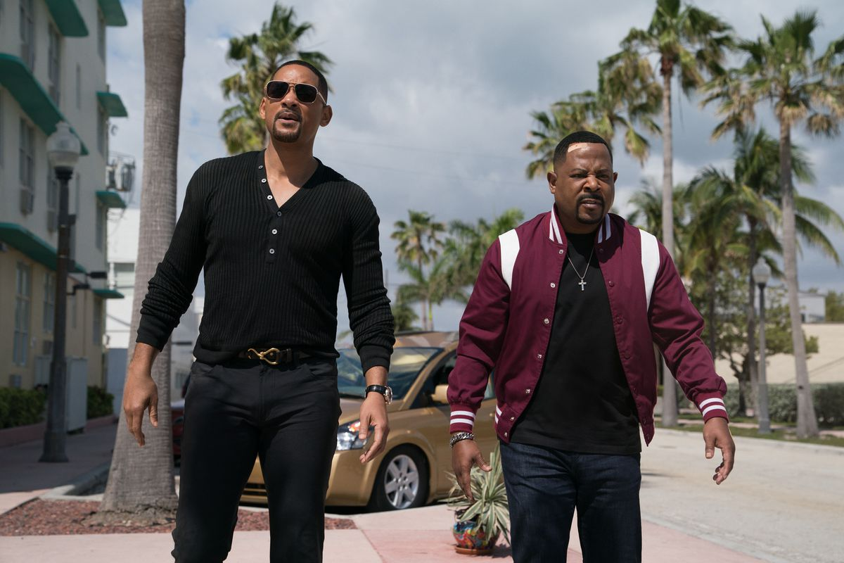 Mike (WILL SMITH), Marcus (MARTIN LAWRENCE) on the streets of Miami in Columbia Pictures' BAD BOYS FOR LIFE.
