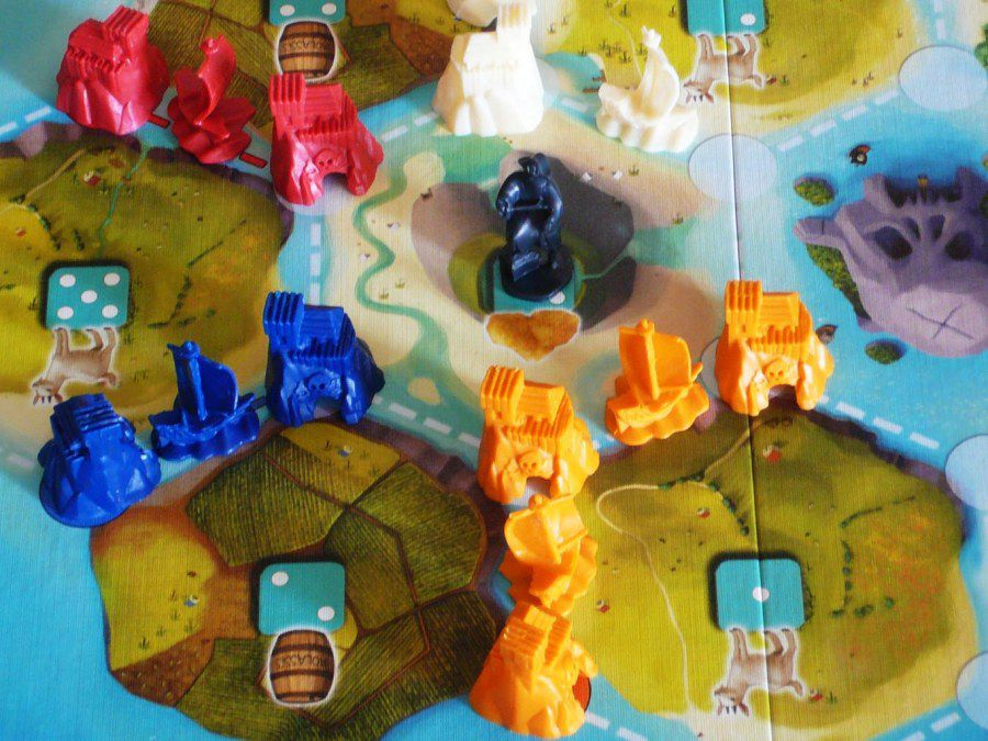 Board and pieces for Catan Junior