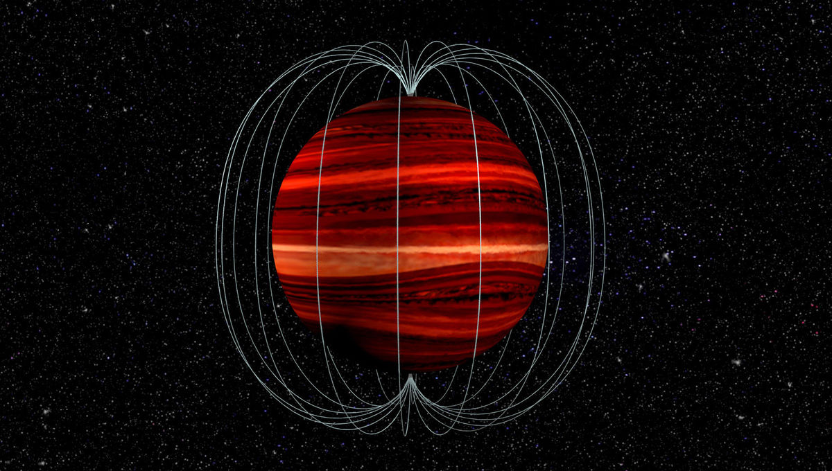 Measuring the wind speed on a brown dwarf