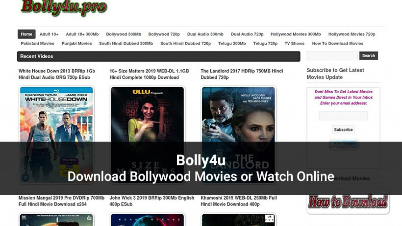 Bolly4u Website 2020 Latest Bollywood Movies Download Or Watch Online
