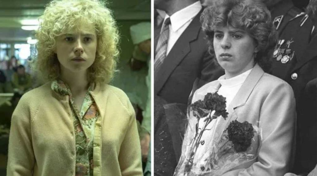 Jessie Buckley as Lyudmila Ignatenko