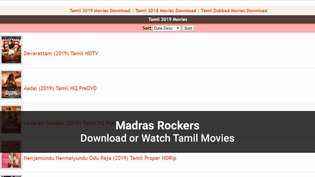 Madras Rockers Latest Tamil Movies To Watch In 2020