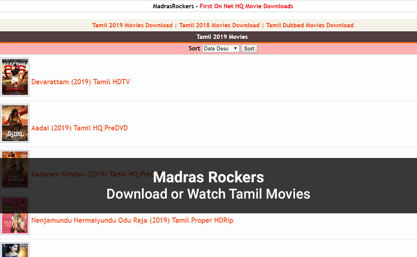 Madras Rockers Website