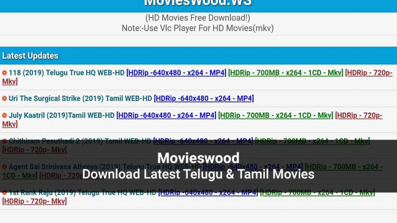 Movieswood Latest Telugu Tamil Movies To Watch In 2020