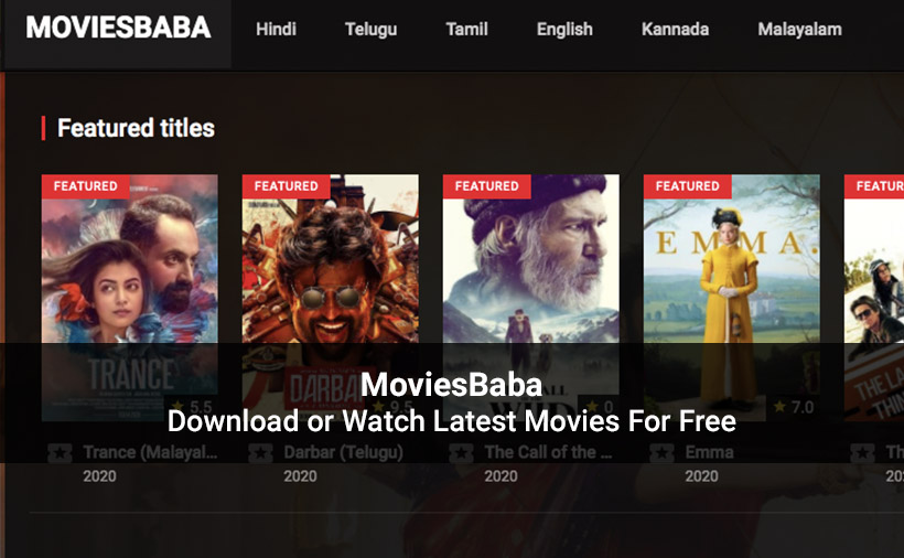MoviesBaba website