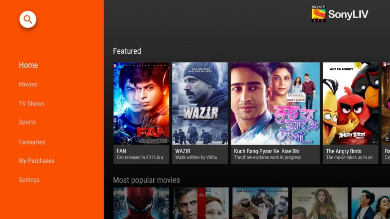 Sony LIV for free shows and Bollywood Movies