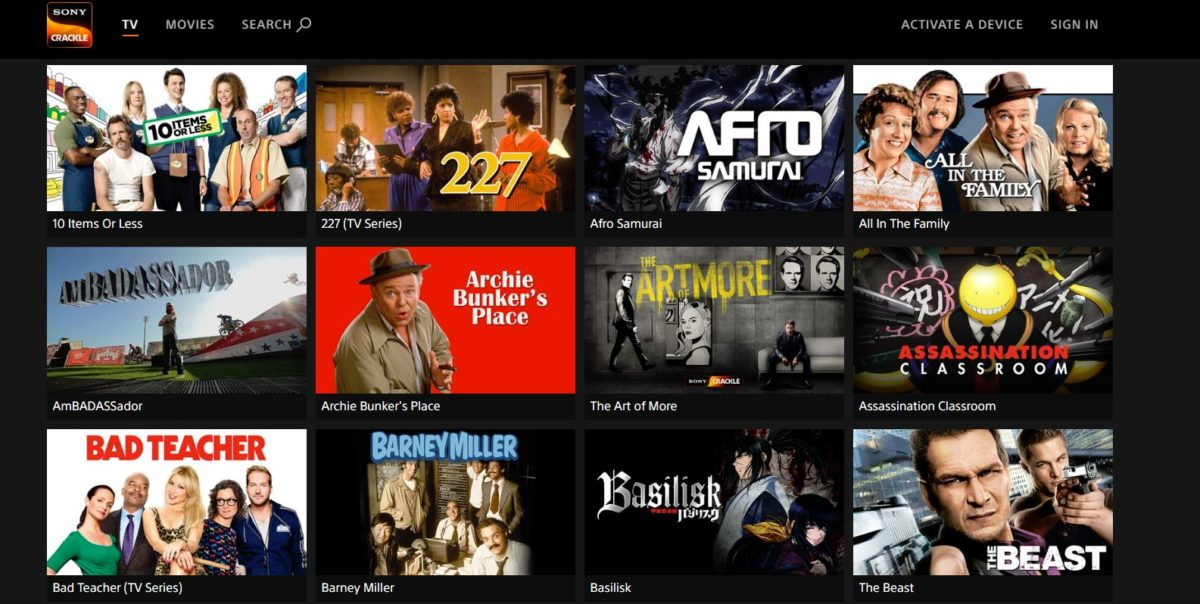 Free Movie Download on Sony Crackle