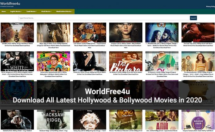 WorldFree4u website