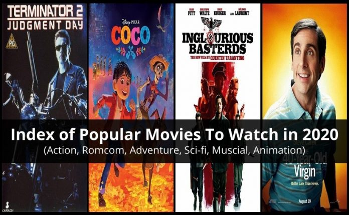 Index Of Popular Movies TO Watch In 2020